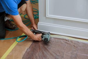 trim carpentry baseboard installation